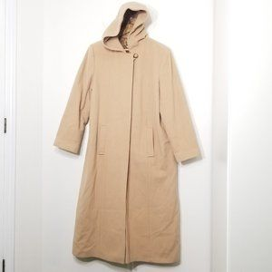 Novelti | Tan Cream Full Length Wool Blend Coat 11